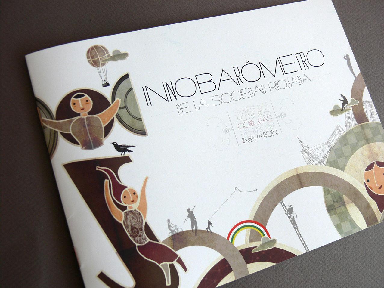 Diseño editorial para el Innobarómetro de la Fundación Riojana para la Innovación