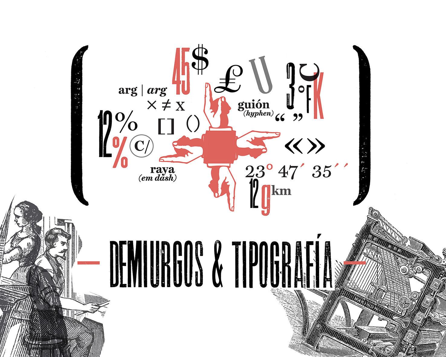"""Portada del artículo """"Demiurgos & Tipografía"""" escrito por Lalolagráfica"""