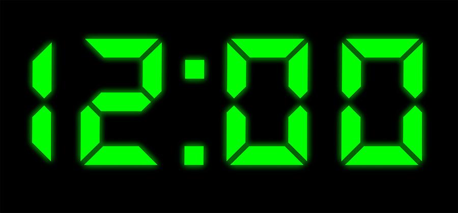 Dígitos que muestran la hora